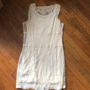 White lace spring dress